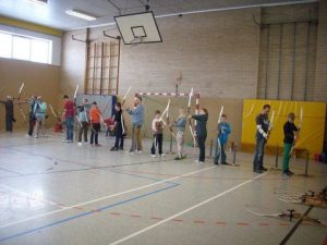 Bogenschießen in der Halle